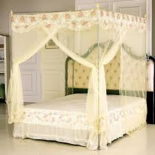 Extraordinary Wrought Iron Princess Canopy Bed Pink Frame Toddler ...