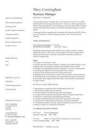 Best Business Resume Template Business Management Cv News