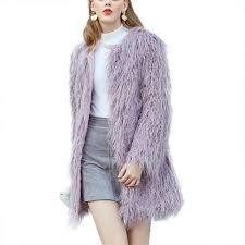 fluffy long faux fur coat women thicken winter fake fur streetwear thick coat female fashion streetwear