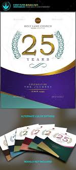 anniversary poster template regal purple and silver church anniversary flyer template flyer