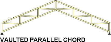 Vaulted Parallel Chord Truss Span Chart Truss Configuration And Terminology Explainted Lake