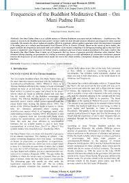 (PDF) Frequencies of the Buddhist Meditative Chant – Om Mani ...