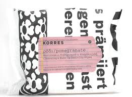 korres cleansing make up removing wipes in pomegranate review photos