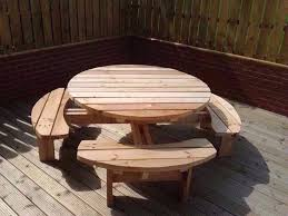 round picnic table pub bench patio furniture heavy duty 4 or 8