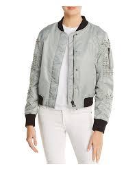 doma leather women s studded aviator er jacket