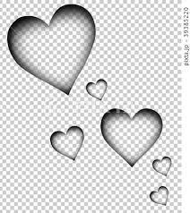 透明なハートたち バレンタイン プレゼントのイラスト素材 39385220