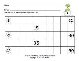 24 Thorough Fill In The Blank Number Chart Worksheets