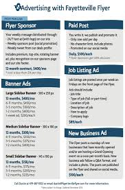 The Flyer Ads Advertising Information Fayetteville Flyer
