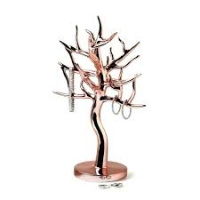 dollar tree diy jewelry holder stands princess necklace rose gold tree branch jewelry holder
