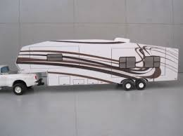 164 New Scratch Custom 5th Wheel Camper Only Graphics Farm Toy Free