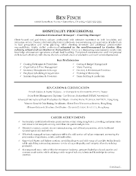 Hospitality Resume Manager Cover Letter Internship Objective Cv
