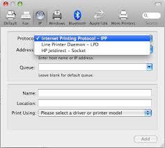 Print Name Setting Up Printers On A Mac Running Mac Os X The University Of