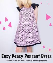 Peasant Dress Pattern Interesting Threading My Way Easy Peasy Peasant Dress Pattern Review