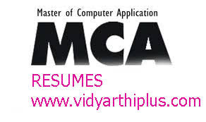Master Of Computer Application Mca Resume Format And Samples