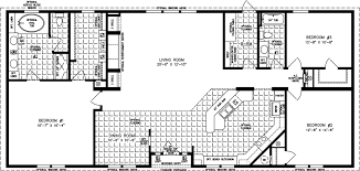 manufactured home floor plan the imperial model imp 46821w 3 bedrooms