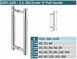 stainless steel glass door pull handles