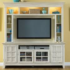 Flat Screen Tv Console Coastal Style Entertainment Console With Storage By Liberty