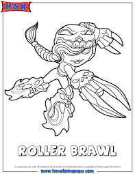 Small Picture Skylanders Swap Force Undead Roller Brawl Coloring Page H M