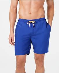 Mens Quick Dry Performance Solid 7 Swim Trunks Created For Macys