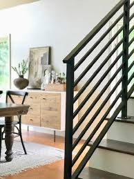 Metal railing stairs Minimal Horizontal Stair Railing Horizontal Stair Railing Horizontal Staircase Railing Lowes Our Finished Staircase With Horizontal Stair Railing Daly Digs