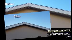 painting exterior trim. painting house exterior trim facia boards how to prep paint worn cracking nails showing through - youtube