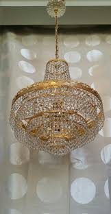 vintage french empire crystal basket chandelier 8 lights tiers antique large 18 1 of 11 see more