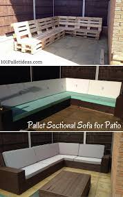 diy pallet patio furniture. DIY #Pallet Sectional #Sofa For Patio - Self-Installed 8-10 Seater Diy Pallet Furniture