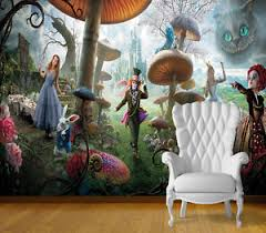 Image Is Loading Alice In Wonderland Wall Art Wall Mural Self