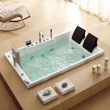 bathtubs idea appealing massage bathtub bubble jet spa creative home with towels and chair and