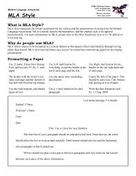 Mla Style College Of Arts And Sciences