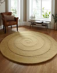 spiral gold circle rug