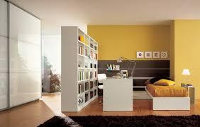 white wooden bookcase room dividers ideas for home interior design idea