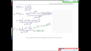 First Derivative Sign Chart Unit 6 3 First And Second Derivative Sign Chart Example