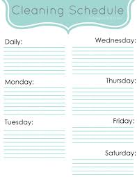 schedule weekly weekly cleaning schedule classy clutter
