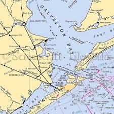 West Galveston Bay Depth Chart Texas Galveston Bay Texas City Nautical Chart Decor