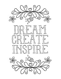 Free Coloring Book Pages For Grown Ups Inspiring Quotes Adult