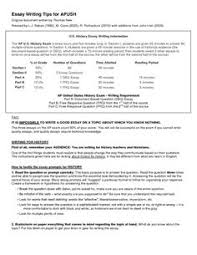 tips for writing dbq essays extremely useful for teachers essay writing tips for apush give your ap us history students the tips and tools