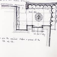 simple architectural sketches. Architectural Sketch Partial Site Plan Line Weight Simple Sketches