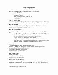 Teaching Resumes Leaving Teaching Resume