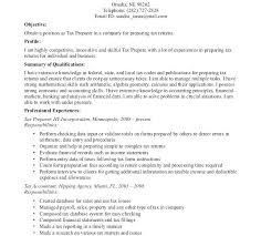 seasonal tax preparer resume sample sumptuous design ideas 5 example  download . tax preparer resume ...