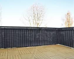 Amazon De Gartenfreude Polyrattan Sichtschutz Balkon Matte Oder