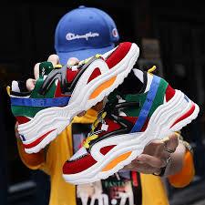 <b>2019</b> Harajuku <b>Autumn Vintage</b> Sneakers Men Breathable Mesh ...