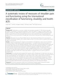 Icf Chart Chemistry Pdf A Systematic Review Of Measures Of Shoulder Pain And