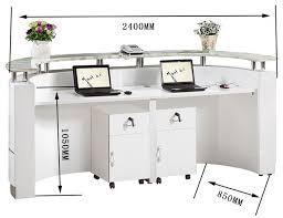 office small hair salon modern white half round reception desk throughout designs 13