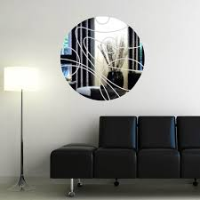 Small Picture Mirror Sticker Wall Decor Ideas for Spacious Room Design