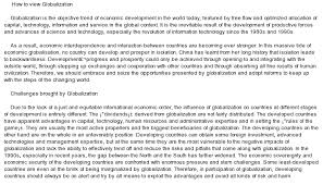 globalisation essays co globalisation essays