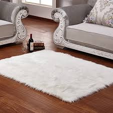 faux fur rug grey soft fluffy rug 80 x150 cm gy rugs faux sheepskin rugs floor