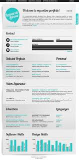 examples of creative graphic design resumes infographics    resume format template