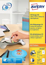 Avery Cd Labels Avery Ab1800 Cd Design Kit With Applicator Software Disc Printable Labels And Case Inserts 117 Mm Dia Full Face Cd Labels X 24 And 151 X 118 Mm Cd