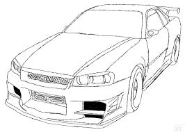 Nissan skyline drawing outline download